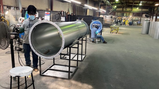Heavy, Welded Duct Headed To Arkansas
